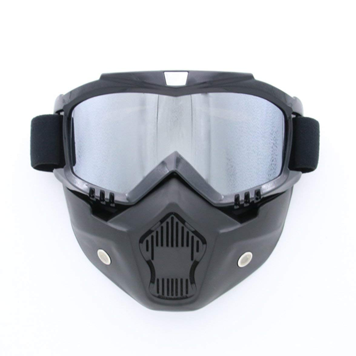 Kongqiabona Completely Framed Mask Skiing Glasses Cycling Glasses Windproof Goggles Breathable Glasses Removable Mask for Outdoor Sports