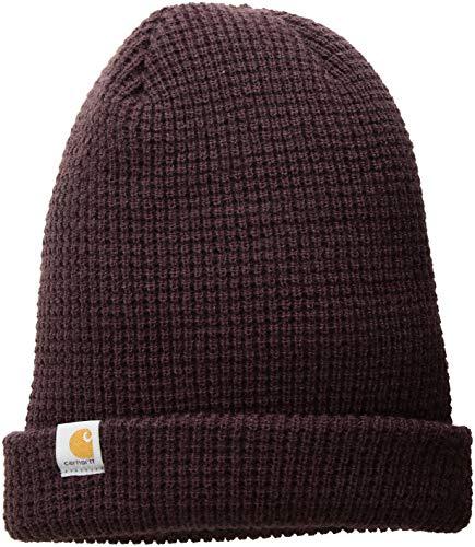 - Carhartt Women's Woodside Waffle Hat, deep Wine, OFA