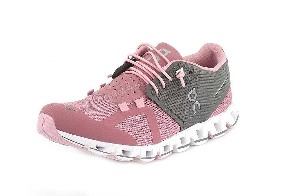 On-Running Womens Cloud Charcoal Rose Running Shoe – 9.5