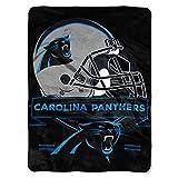 "NFL Carolina Panthers Prestige Plush Raschel Throw, 60"" x 80"""