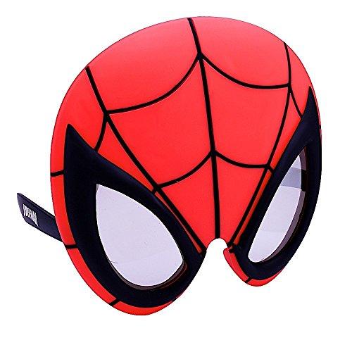 [Sunstaches Marvel Spiderman Sunstaches, Large] (Spiderman Mask Kids)