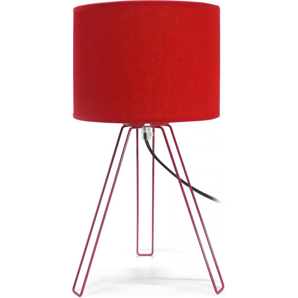 Tripod Bedside Lamp Red: Amazon.co.uk: Kitchen & Home