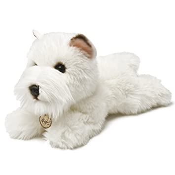 Miyoni Perro Westie de peluche, 21 cm, color blanco (Aurora World 13127)