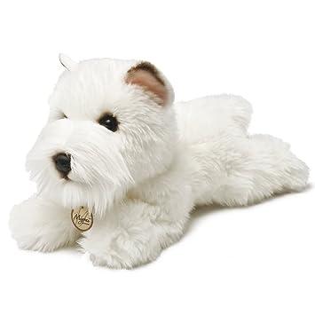 Miyoni Perro Westie de peluche, 21 cm, color blanco (Aurora World 13127)