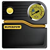Portable Tire Inflator,Superpow Auto Air Compressor Pump 120PSI 12V DC for Car Truck Bicycle or RV Basketballs Air Bed Mattress and Inflatable Objects