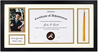 product image for flag connections 11x22 Black Shadow Box 8.5x11 Diploma, 4x6 Photo - Tassel Holder