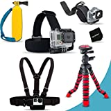Xtech® Ultimate MOUNTS Accessory Kit for GoPro HERO4 Hero 4, GoPro Hero3+, GoPro Hero3, GoPro Hero2, GoPro HD Motorsports HERO, GoPro Surf Hero, GoPro Hero Naked, GoPro Hero 960, GoPro Hero HD 1080p, GoPro Hero2 Outdoor Edition Digital Cameras Includes H