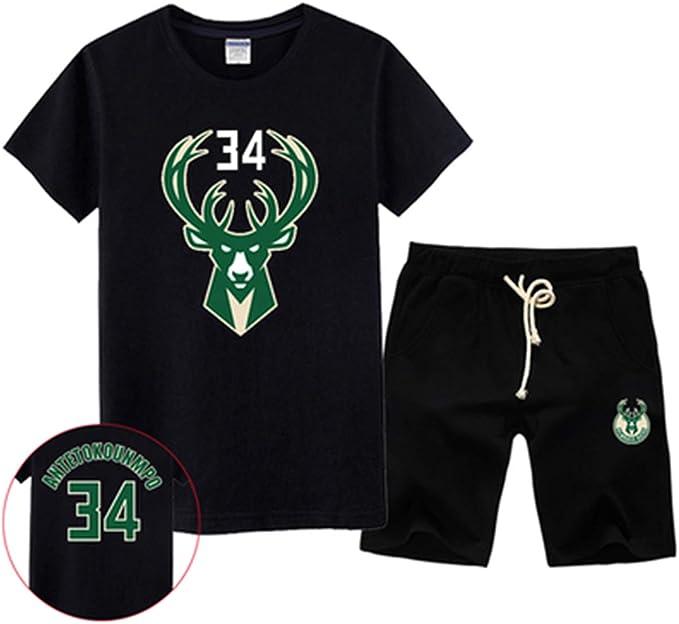 Conjunto De Camiseta De Manga Corta De Milwaukee Bucks Jersey ...