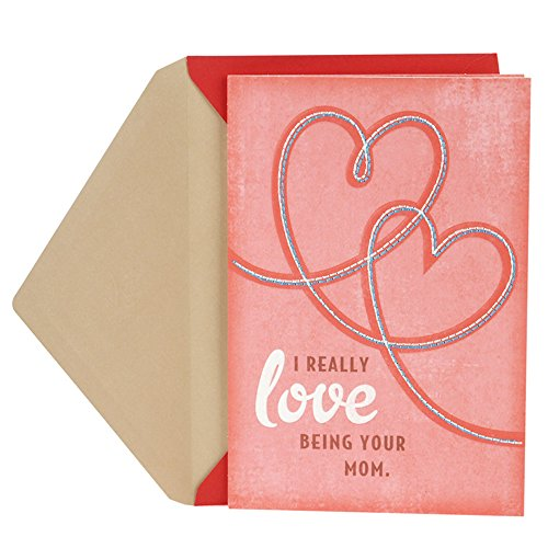 Hallmark Valentine's Day Greeting Card for Son from Mother (Stitched Hearts)
