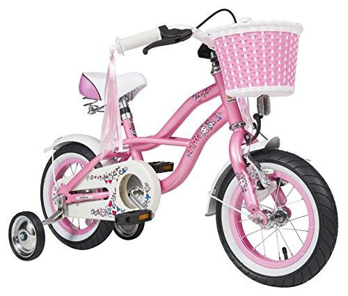 BIKESTAR® Premium Design Kinderfahrrad für coole Kids ab 3 Jahren ★ 12er Deluxe Cruiser Edition ★ Glamour Pink