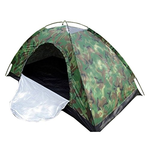 BAITER Ultra-light Outdoor Single Tents Camouflage Backpacking Tents Ventilation Waterpoof Windpoof Tent for Camping