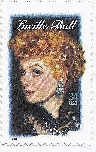 - Lucille Ball Single 34 Cent U.S. Postage Stamp Scott 3523