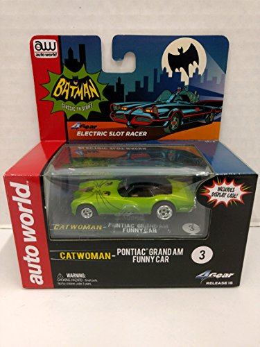 Auto World SC295 Batman Classic TV Series Catwoman Pontiac Grand Am Funny Car HO Scale Electric Slot Car