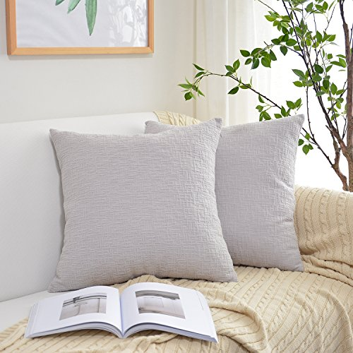Kevin Textile Decor Solid Throw Pillow Cover (7 Colors and 4 Sizes) Velvet Cushion Cover with Hidden Zipper for Sofa/Bed, 20