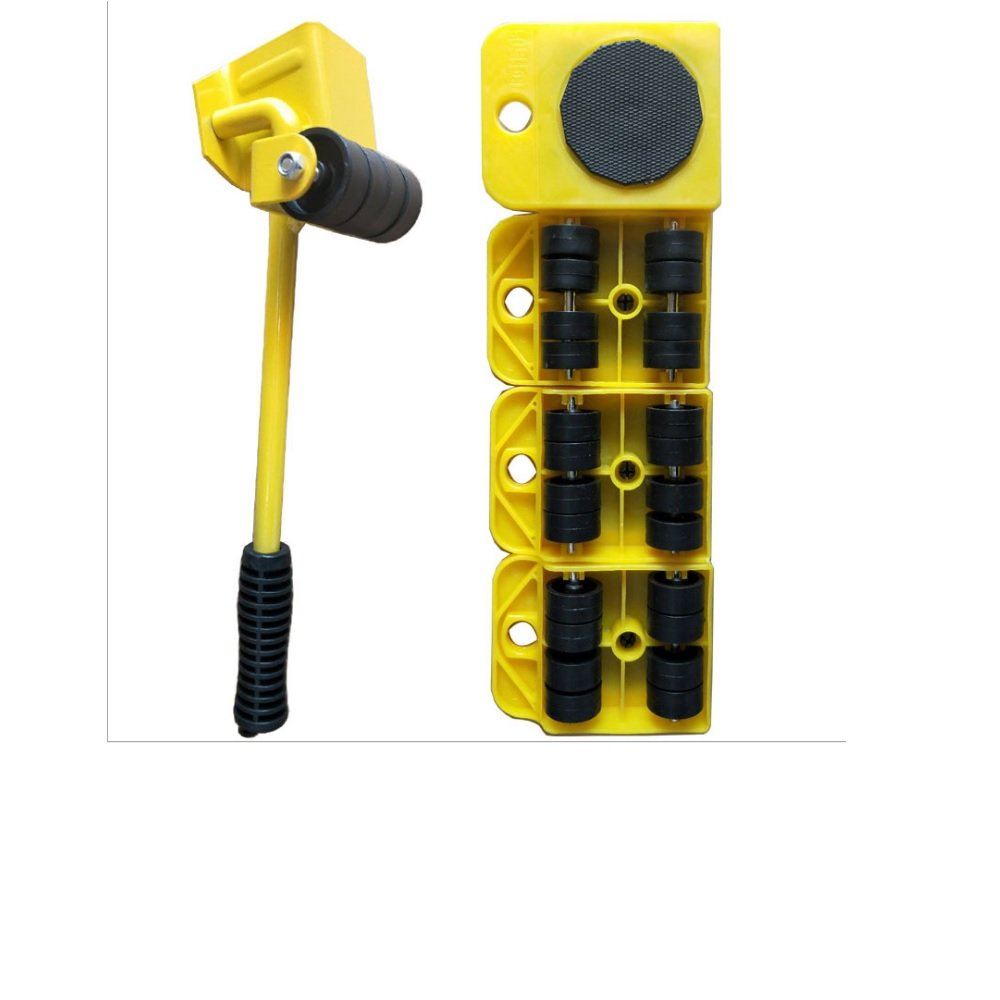 8th team ( Yellow ) Furniture movers lifter- Lift System One Moves Furniture Lifter and 4 Furniture Moving sliders for Heavy Furniture & Appliance Lifting . (yellow)