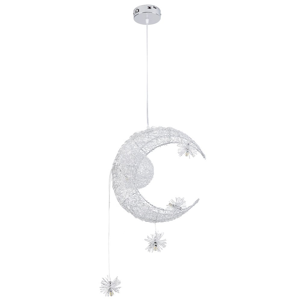HomeLava LED Pendelleuchte Mond Stern Design 5 flammig,3000K, Warmweiß Kinder Modern