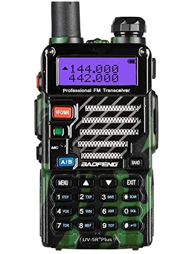 BaoFeng UV-5R Plus UV5R  Qualette Series 136-174 400-480MHz 2M 70CM Ham Two-way Radio  Dual-Band  Dual-Display  Dual-Standby  18CM 7FT Boosted Antenna  Jungle Camouflage
