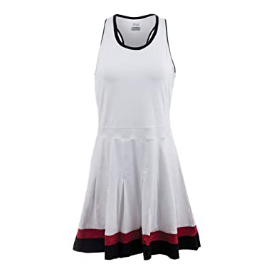7f007ed094c Amazon.com: Fila Women's Heritage Racerback Dress, White, Black ...