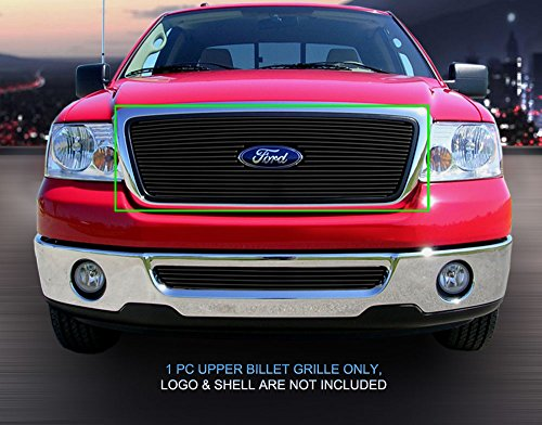 Fedar Main Upper Overlay Billet Grille Insert for compatible with 2004-2008 Ford F-150 Selected Models