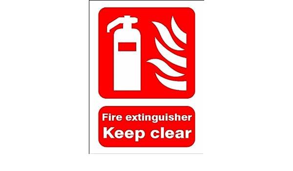 Extintor KEEP transparente señal de vinilo adhesivo de 150 x ...
