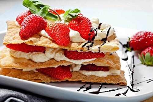 Sim,Popular murals Wood-Material DIY Present-Wrap in Box 29.5 X 19.6 inch 1000 Piece Hard Puzzle Large Size : Snack Strawberry Pancake Cream