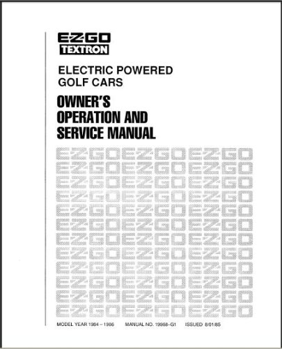 amazon com ezgo 19968g1 1984 1986 owner s operator and service rh amazon com EZ Go Golf Cart Schematics 1984 ezgo golf cart service manual
