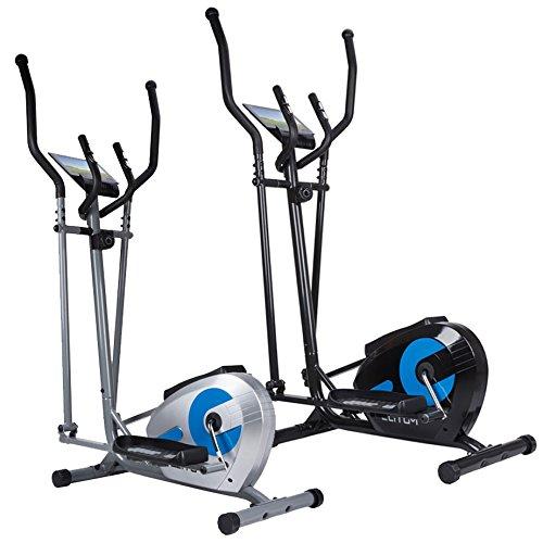 Bicicleta elíptica elitum MX300 Fitness Cardio ergómetro 125 kg bicicleta de ejercicio ordenador, plata: Amazon.es: Deportes y aire libre