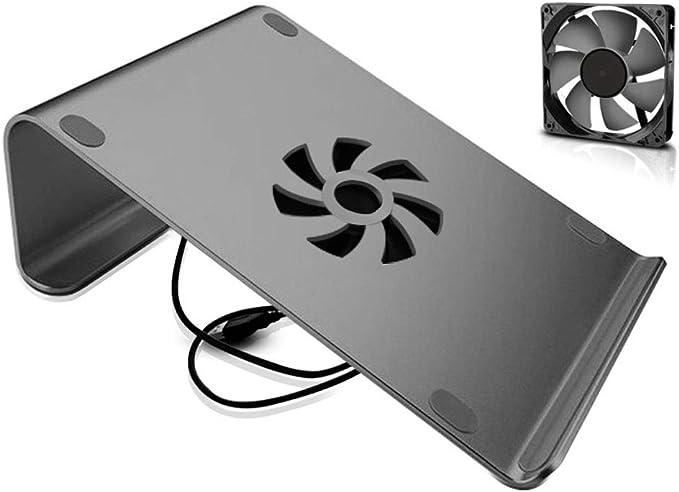 GLJ Sencillo Soporte para computadora portátil portátil Soporte de Escritorio Oficina de Aluminio Base USB Base de Ventilador Base para computadora 26x18.5x8cm Mesa Plegable: Amazon.es: Hogar