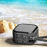 : CRDCsmart Bluetooth Speakers Wireless Portable Rechargeable 800mAh Battery Play For 6 Hour Single Channel 5W Sport Speaker Waterproof IP65 Dustproof Shockproof Music Phone Speaker Outdoors (black)
