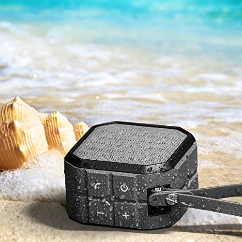 CRDCsmart Bluetooth Speakers Wireless Portable Rechargeable 800mAh Battery Play For 6 Hour Single Channel 5W Sport Speaker Waterproof IP65 Dustproof Shockproof Music Phone Speaker Outdoors black