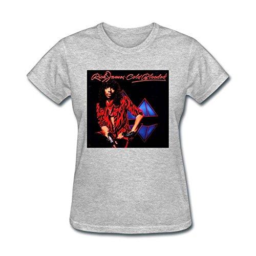 Tommery Womens Rick James Design Short Cotton T Shirt