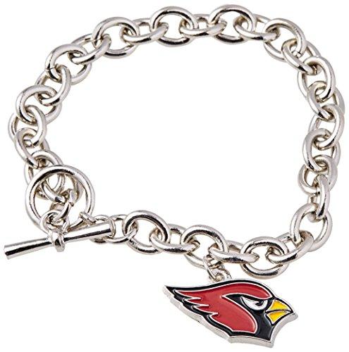 Silver Arizona Cardinals Charm - NFL Arizona Cardinals Charm Chain Bracelets, Silver
