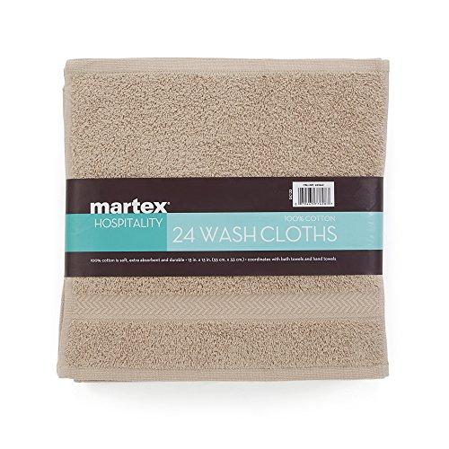 COMMERCIAL 24 PIECE WASH CLOTH  TOWEL