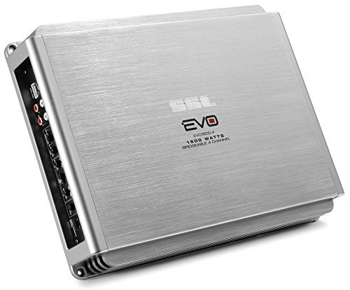 Sound Storm EVO1600.4 EVO 1600 Watt, 4 Channel, 2 to 8 Ohm Stable Class A/B, Full Range, Bridgeable, MOSFET Car Amplifier with Remote Subwoofer Control