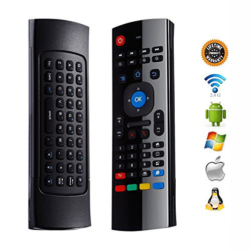 WELLWIN Infrared Remote with Mini Wireless Keyboard,