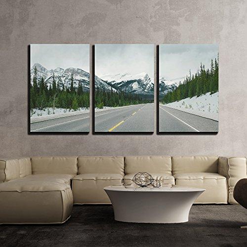 Road in Mountainous Area x3 Panels