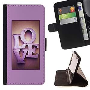 Momo Phone Case / Flip Funda de Cuero Case Cover - Violet texte Lettres Honey Couple - Samsung Galaxy J3 GSM-J300