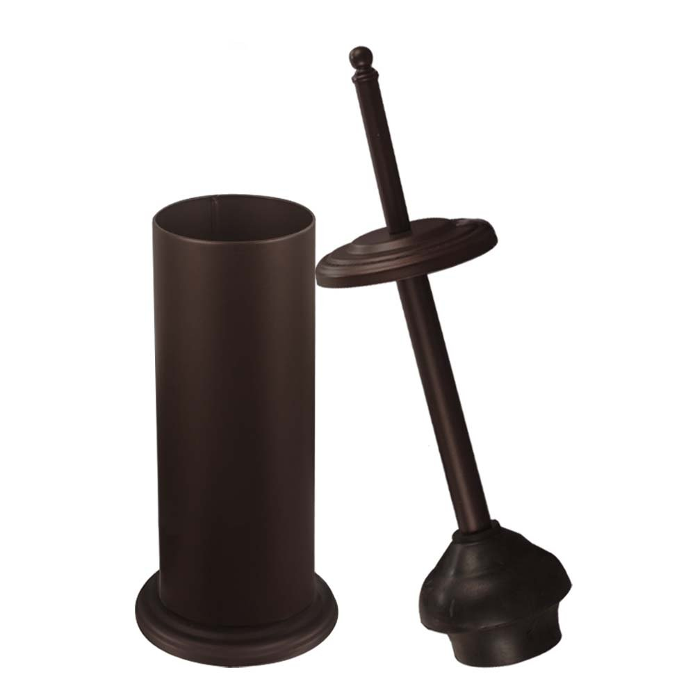 DOWRY Toilet Plunger Caddy Bathroom, Freestanding,Quick Dry, Heavy Duty, Deep Cleaning, Metal Bronze Surface