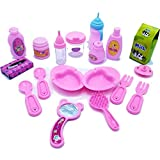 "Doll Feeding Set 18 Pc. Baby Doll Accessories, Fits American Girl Doll & 18"" Dolls - Inc. Doll Bowls, Plates & Utensils, Doll Baby Bottles, Hair Brush & Mirror, Doll Diaper, Doll Feeding"