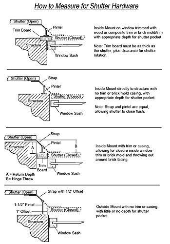 Lag Pintel for Shutter Hinge Stainless Steel-Set of 4 Each by Door Hardware N' More (Image #1)