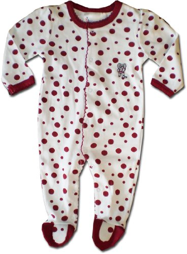 Price comparison product image Polka Dot Footed Creeper (Alabama Crimson Tide) - University of Alabama (Newborn)