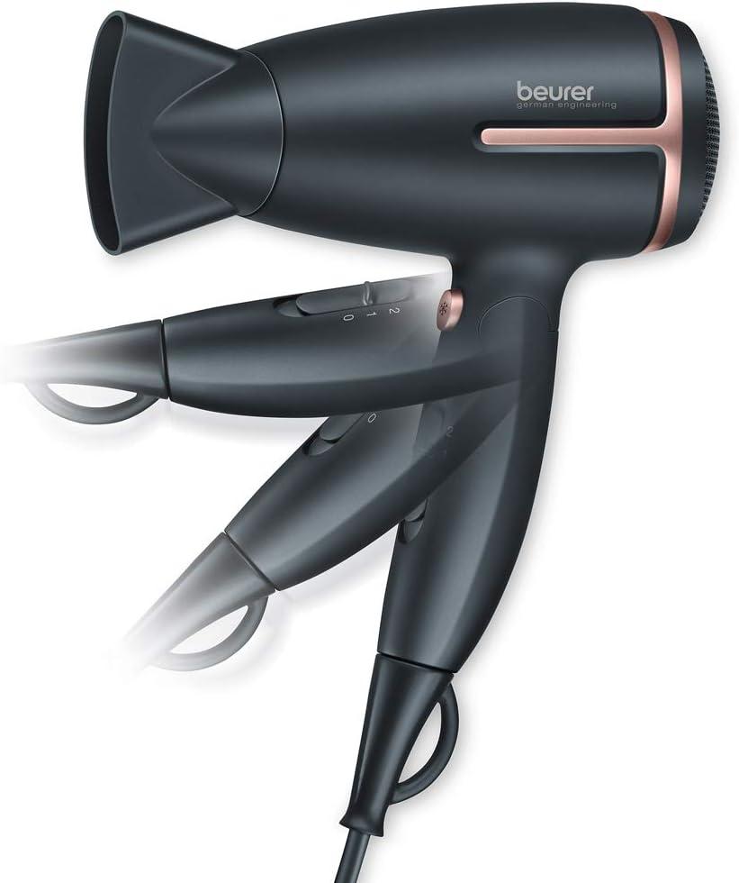 Sèche cheveux de voyage CARRERA No 532 Pliable Avec ions 2 niveaux de chauffage 2 vitesses 1600 W