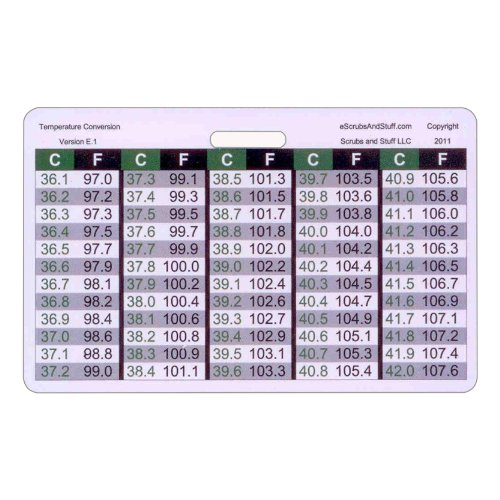 hospital temperature conversion chart gallery