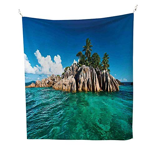 - Islandsimple tapestrySt. Pierre Island at Seychelles Natural Granite Relaxation Mediterranean 60W x 91L inch Art tapestryJade Green Blue Tan