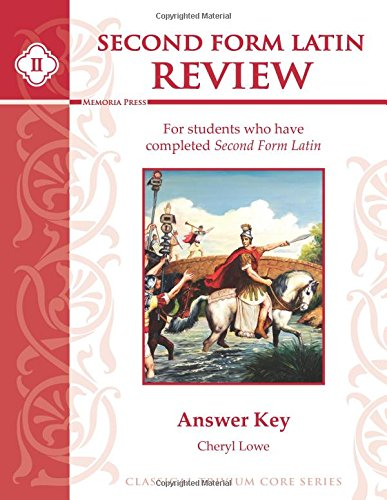 Second Form Latin Review Answer Key pdf