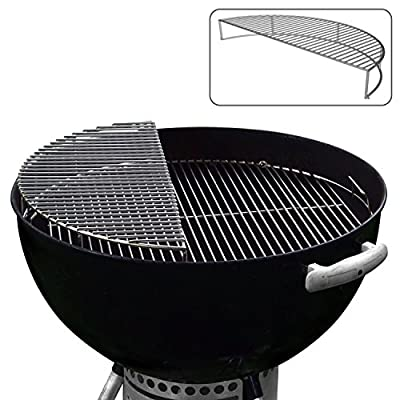 The Original 'Upper Deck' Stainless Steel Grilling Rack/Warming Rack/Smoking Rack/Charcoal Grill Grate- Use with Weber 22 inch Kettle Grill- Charcoal Grilling Accessories and Grill Tools Grill Rack from Grillvana