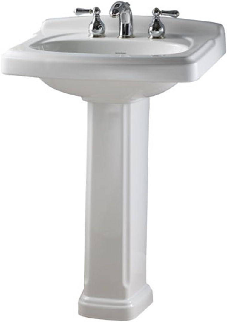 American Standard 0555.401.222 Townsend Portsmouth Pedestal 4-Inch Sink, Linen