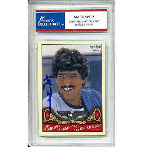 Mark Spitz Autographed Signed 2011 Upper Deck Trading Card - Certified Authentic
