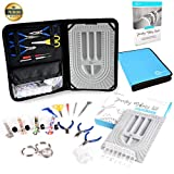 Jewelry Making Kit & Beading Supplies. +30pcs Tools & Accessories Set. Make/Repair Custom & Personalized Beading Designs. Bead Design Board & BeautyBeads Jewellery Making Guide Incl. Canvas Zipper Bag