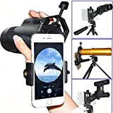 ilauke Universal Cellphone Telescope Photo Adapter- Work with Binocular Monocular Spotting Scope Microscope or Any Point-and-Shoot Digital for iPhone 6/6 Plus Samsung HTC MOTO etc (54-90mm)